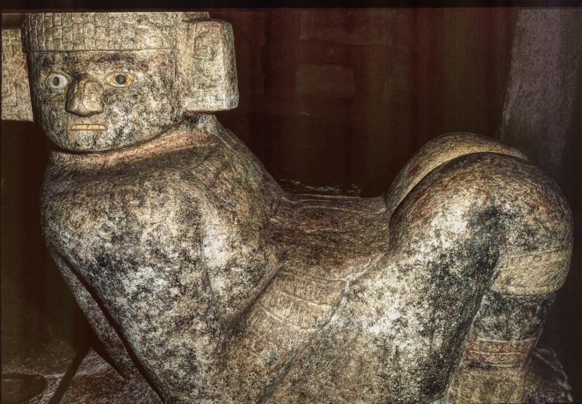 ChacMool inside the Kukulkan Pyramid in Chichen Itza