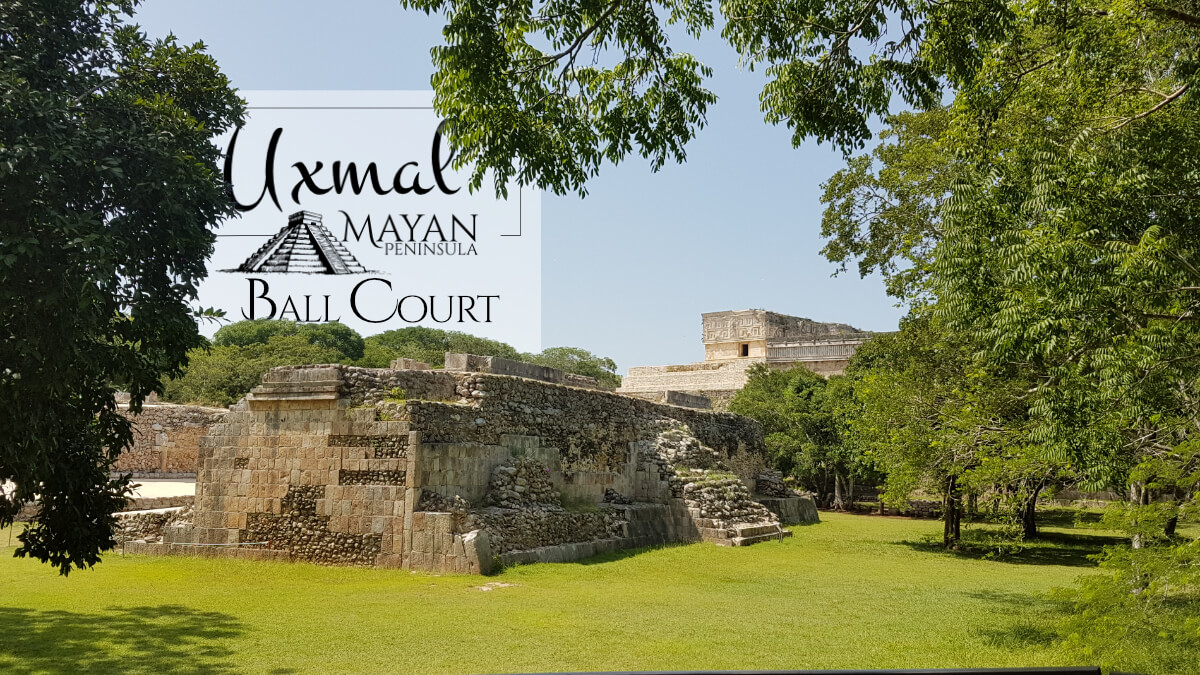 Back side of the Ball Court in Uxmal