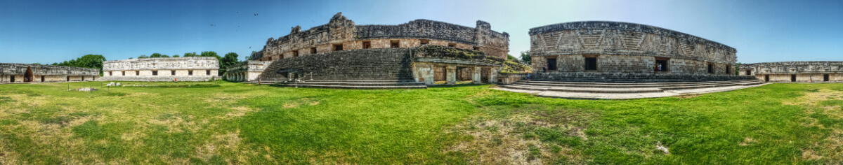 The Nunnery Quadrangle in Uxmal pano
