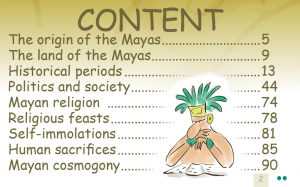 the Mayas on the rocks ebook content 1