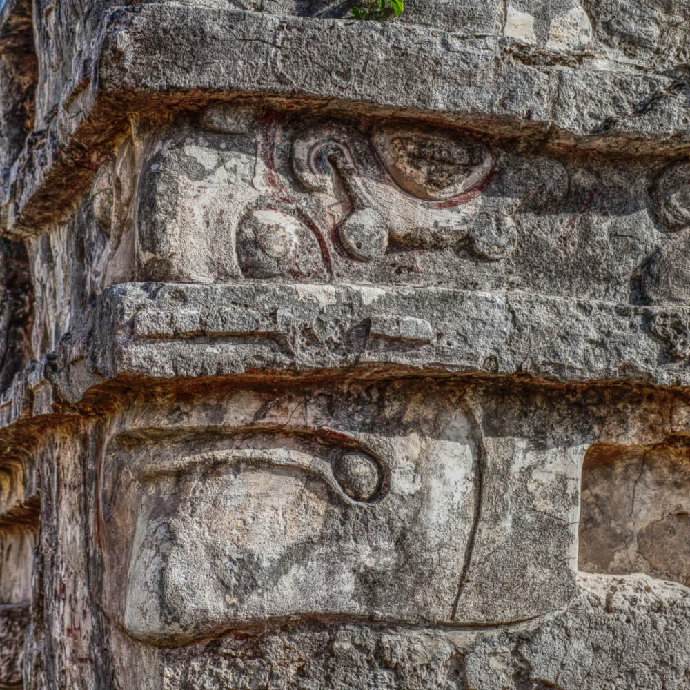 Corner of Temple of the Frescoes in Tulum
