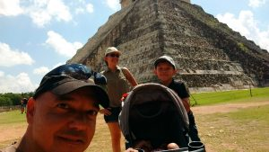 Chichen Itza with Children