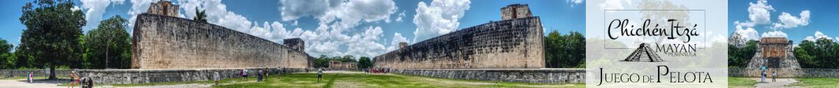 Panorámica del Juego de Pelota en Chichén Itzá