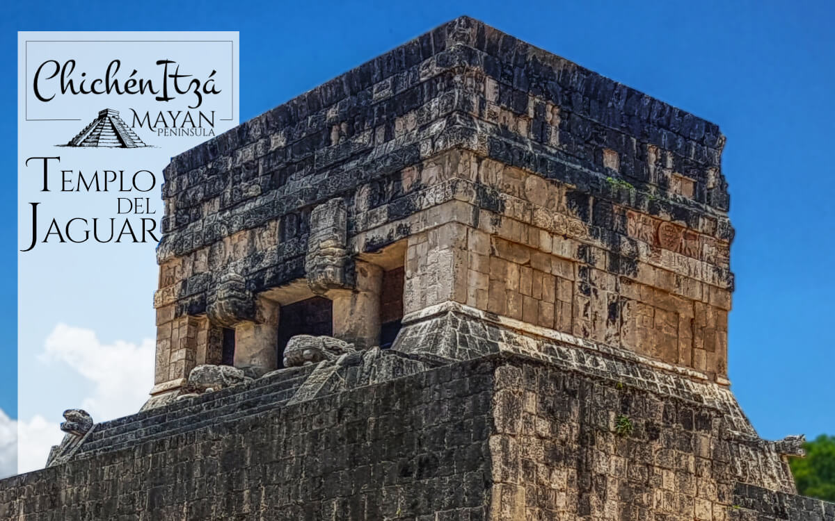 Parte superior del Templo del Jaguar en Chichén Itzá