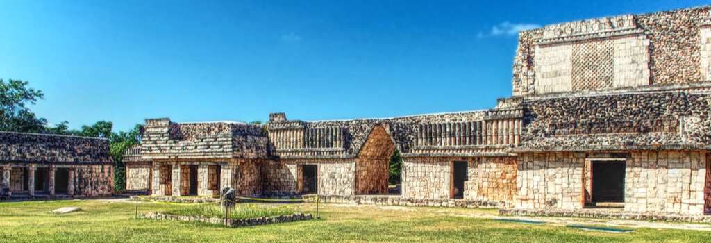 Quadrangle of the Birds west building in Uxmal