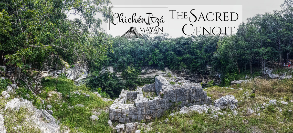Sacred Cenote building in Chichén Itzá