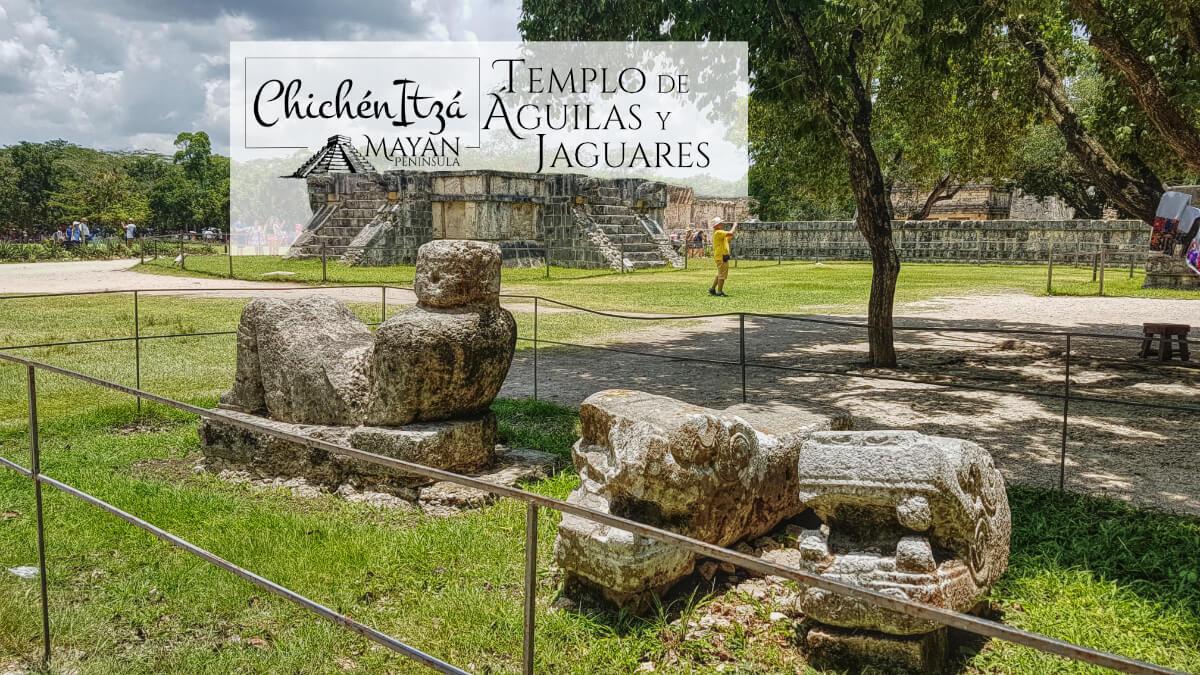 Templo de las Águilas y Jaguares en Chichén Itzá desde lejos