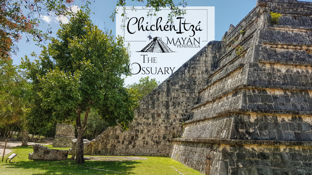 The Ossuary in Chichen Itza from the side
