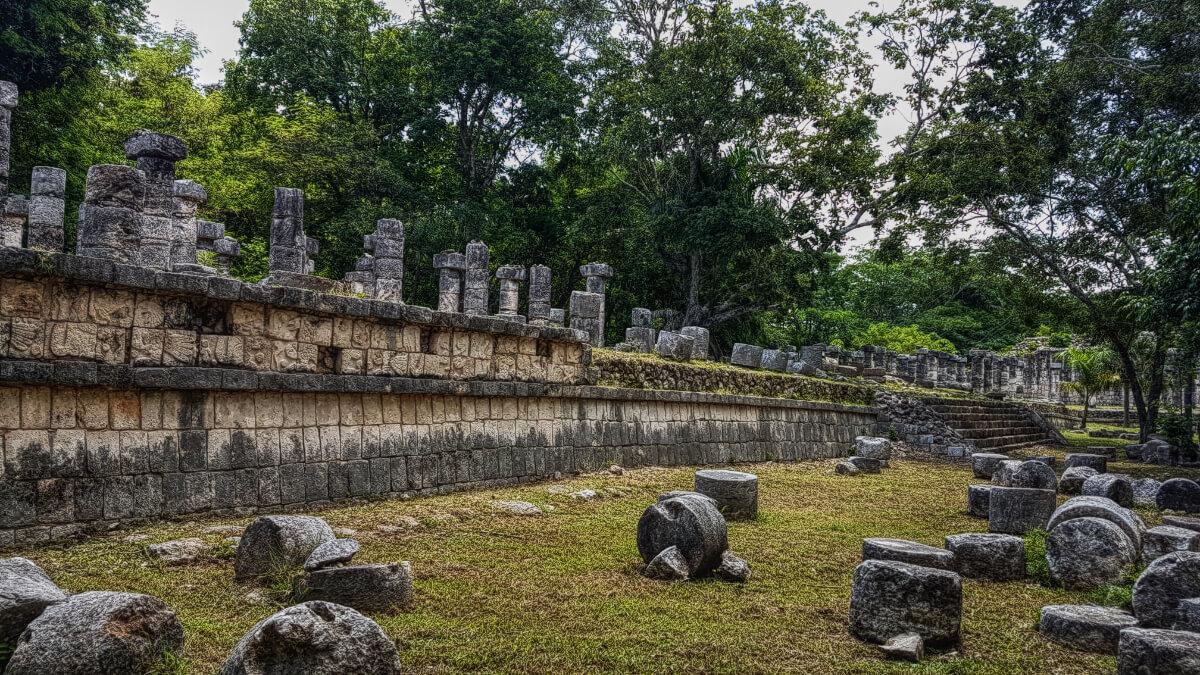 Thousand Columns in Chichén Itzá