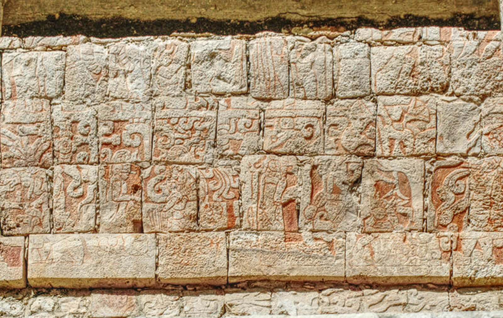 Wall of The Temple of the Bearded Man in Chichen Itza