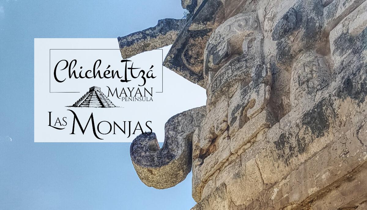 Máscara de Chac de las Monjas en Chichén Itzá