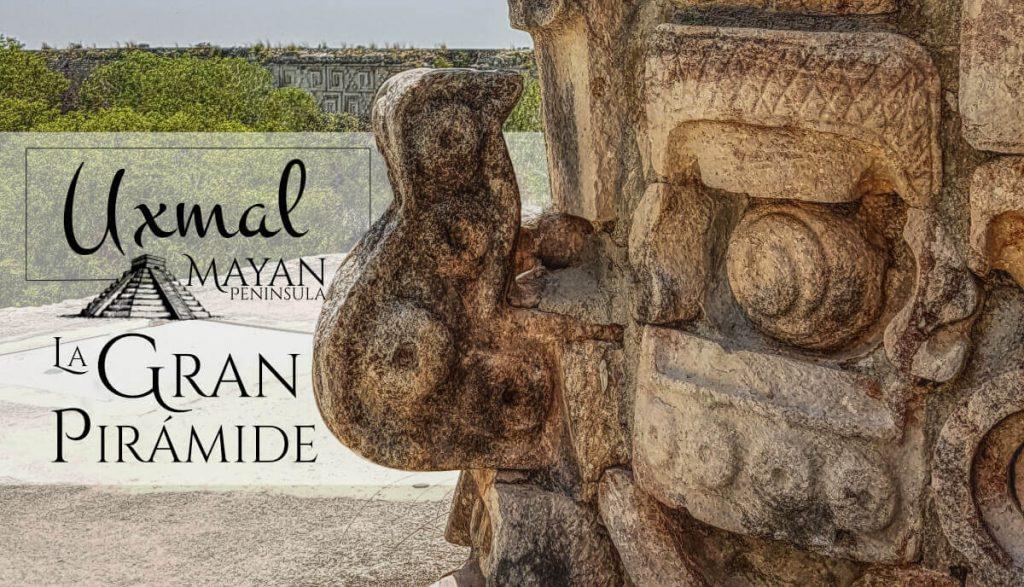 Máscara de Chac en la Gran Prirámide de Uxmal
