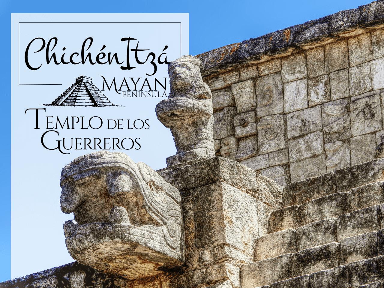 Serpiente en el Templo de los Guerreros en Chichén Itzá