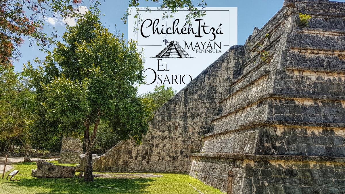 Un costado del Osario en Chichén Itzá