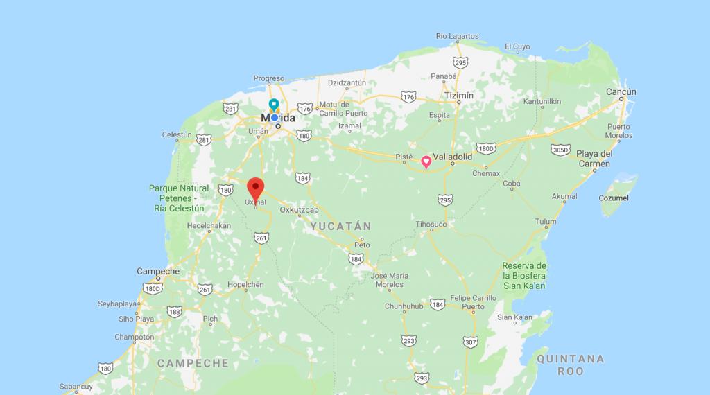 Uxmal location
