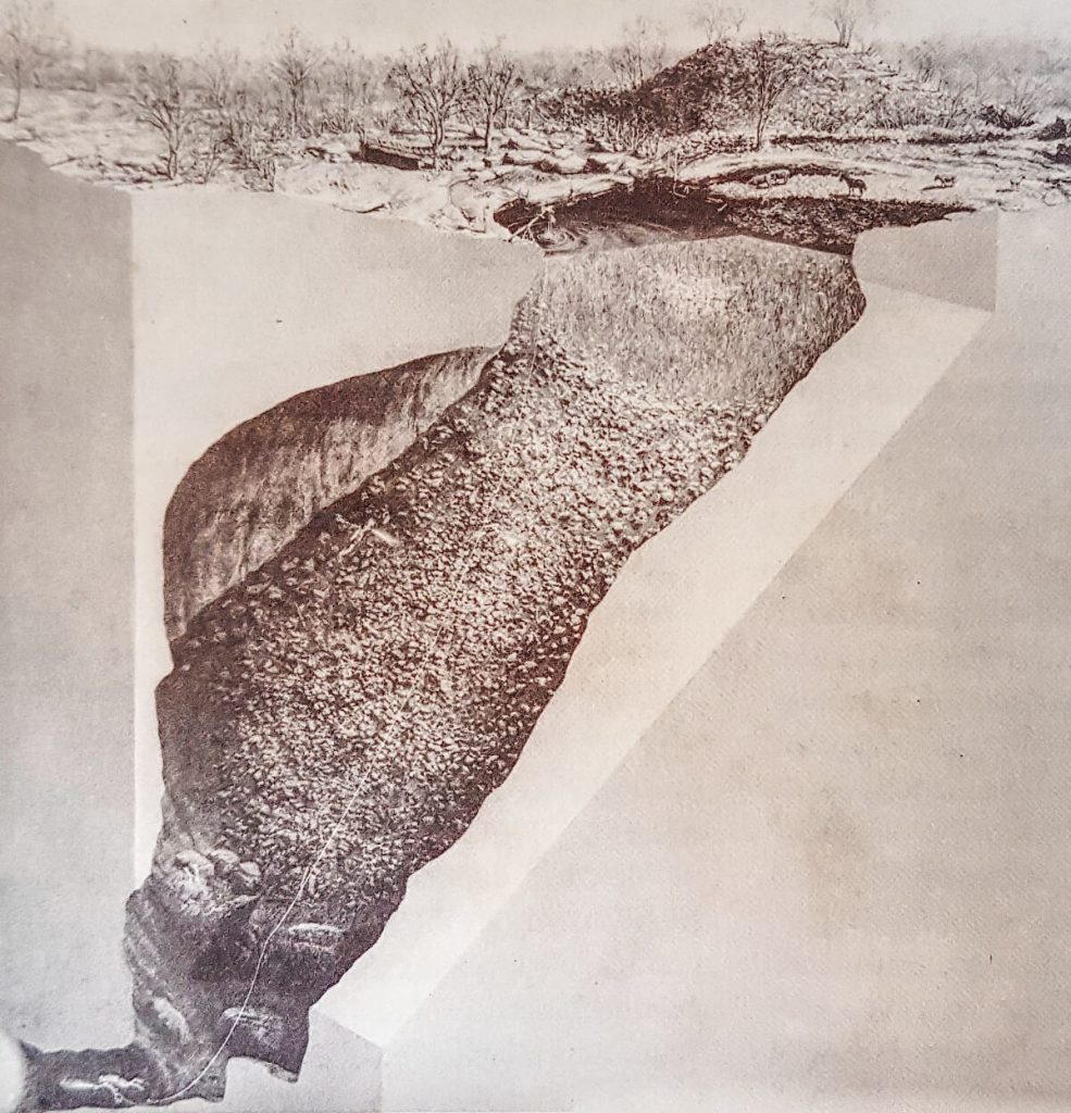 Underground representation of the Xlakah Cenote in Dzibilchaltun