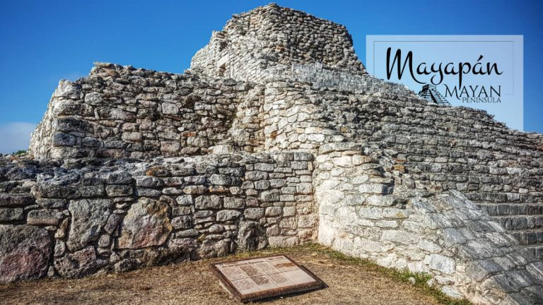 Parte frontal del Templo de los Nichos Pintados